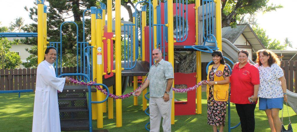 Blessing of the kindergarten playground