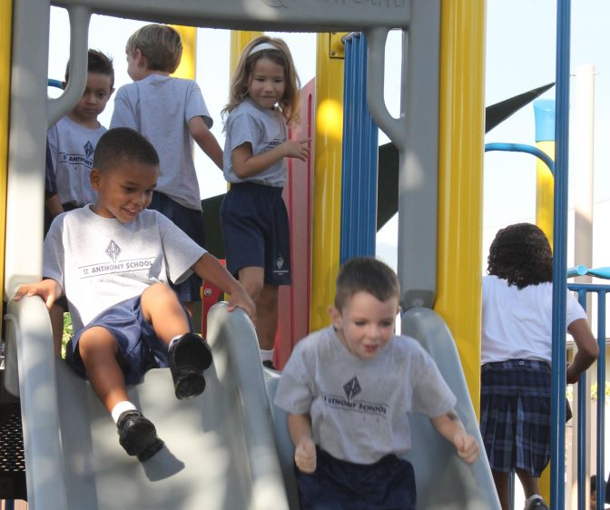 on the slide