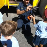 Kids view fire hose