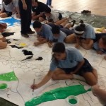 Guernica kids painting
