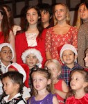 Eighth Grade and ELC Singing Christmas Songs