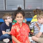 smiling kids at Cultural Awareness Day