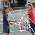 girls with hula hoops at Jump Rope for Heart