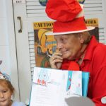 reading for Dr Seuss Bday