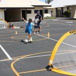 kid kicks goal