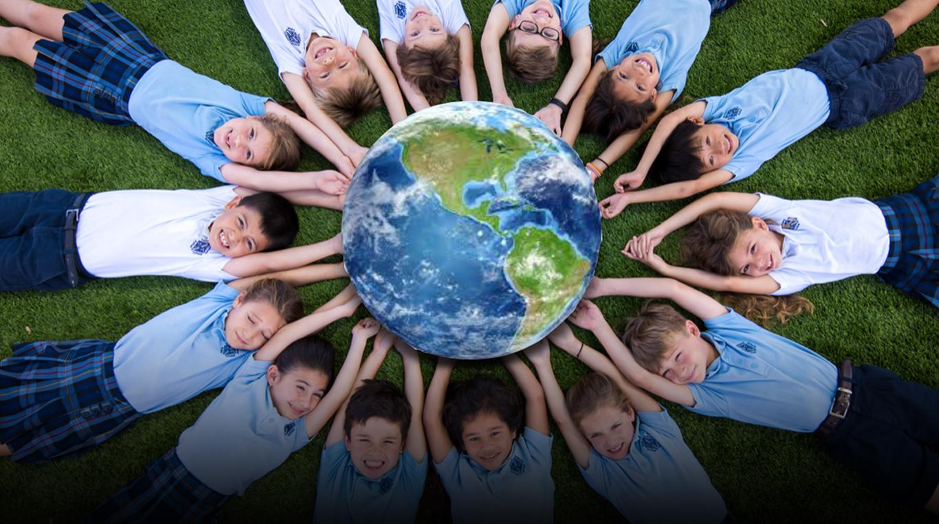 sas kids holding earth