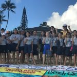 kids on beach after Kailua Beach Cleanup 2018